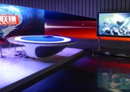 Lichtdesign für Jiangxi TV News Studio, Nanchang/China