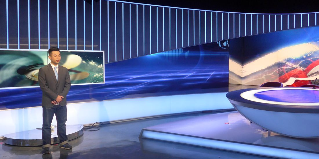 Lichtdesign für Jiangxi TV News Studio, Nanchang/China