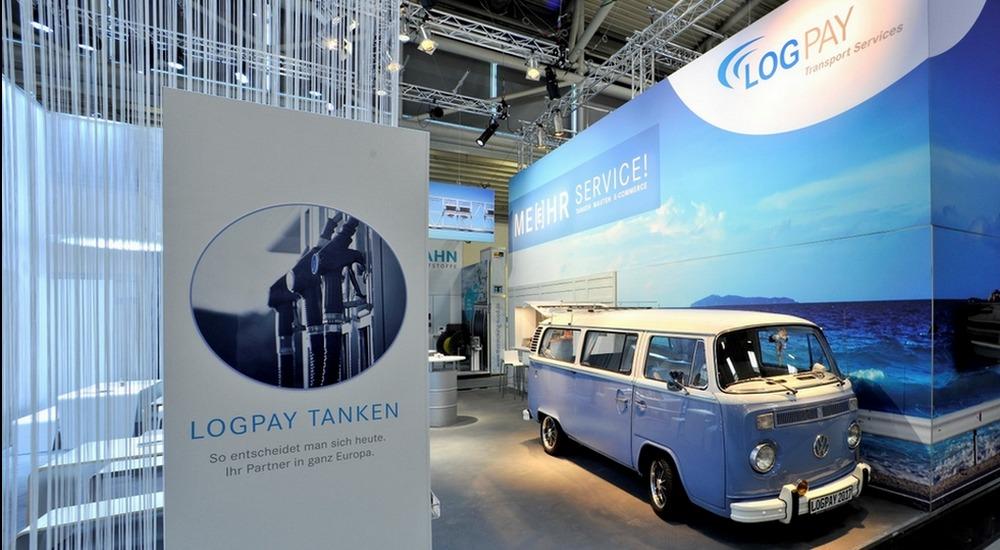 Logpay auf der Transport und Logistikmesse München. Lichtgestaltung: Ralf Wapler