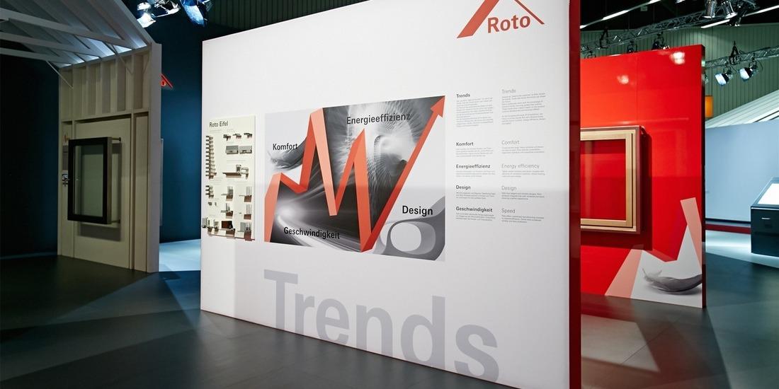 Lichtdesign für den Messeauftritt Roto Frank auf der FRONTALE-Nürnberg
